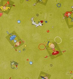 Dětský koberec HAPPY zelená - 234