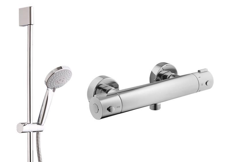 OPTIMA termostatická sprchová baterie se sprchovým setem - SIKOBSTSET268