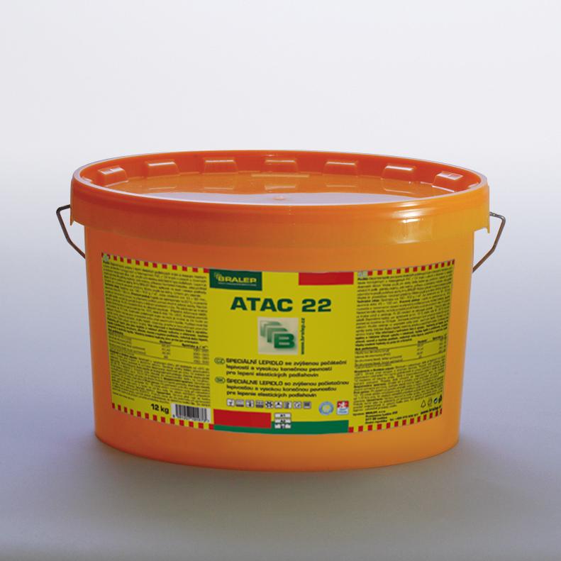 BRALEP ATAC 22 4kg - Speciální disperzní lepidlo pro lepení elastických podlahovin (cena za kg)