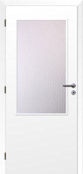 Dveře interiérové Klasik - Bílé 125cm Levé dvoukřídlé - 2/3 sklo