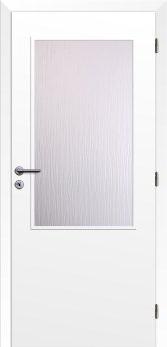 Dveře interiérové Klasik - Bílé 110cm Pravé - 2/3 sklo