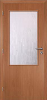 Dveře interiérové Klasik - Buk 60cm Levé - 2/3 sklo