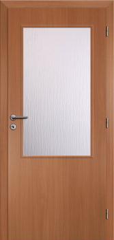 Dveře interiérové Klasik - Buk 60cm Pravé - 2/3 sklo