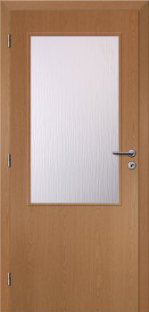 Dveře interiérové Klasik - Dub 70cm Levé - 2/3 sklo