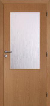 Dveře interiérové Klasik - Dub 70cm Pravé - 2/3 sklo
