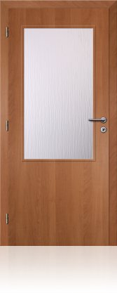 Dveře interiérové Klasik - Olše 70cm Levé - 2/3 sklo