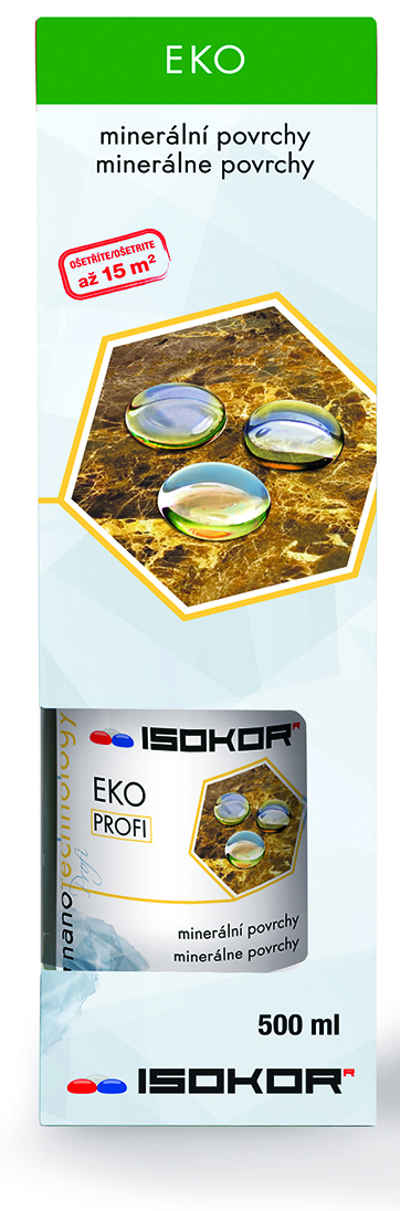 Nano impregnace kamene, pískovce - IsoKor® Eko Profi 0,5 litru
