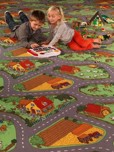 Dětský koberec Farma - 158