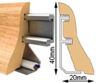 Lišta podlahová MDF fólie