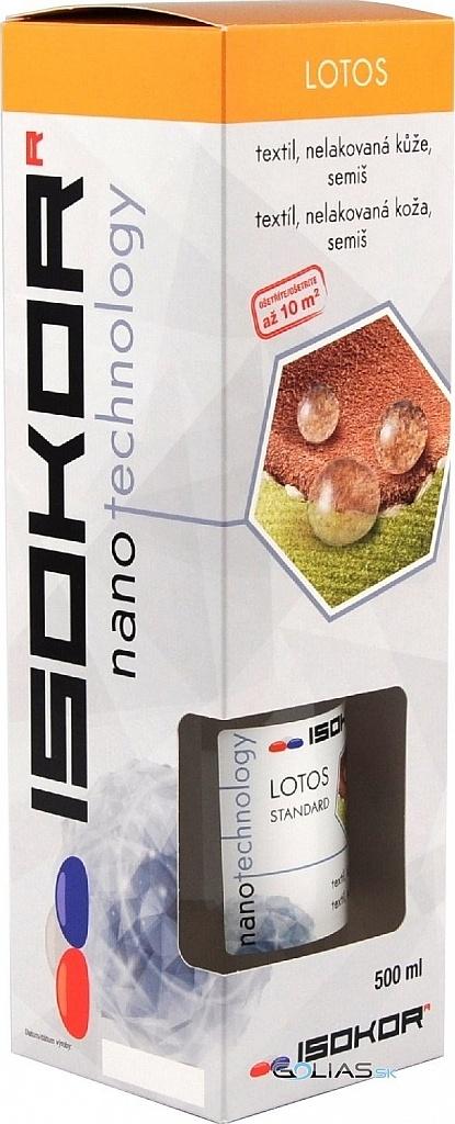 Nano impregnace na boty, kůži, textil a oděvy IsoKor® Lotos Standard 0,5 litru