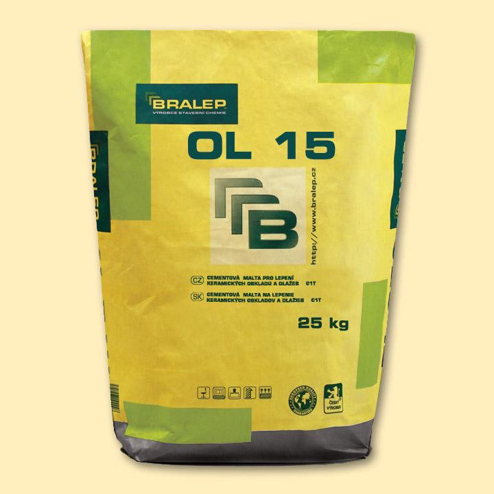 BRALEP OL 15 7kg - Cementové lepidlo pro lepení keramických obkladů a dlažeb (cena za kg)