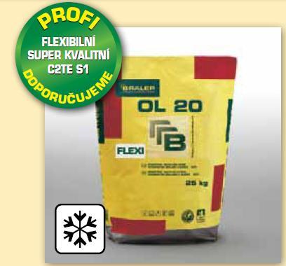 BRALEP OL 20 B 7kg - Flexibilní cementové lepidlo pro tenkovrstvé lepení obkladu a dlažby na anhydritové podklady (cena za kg)