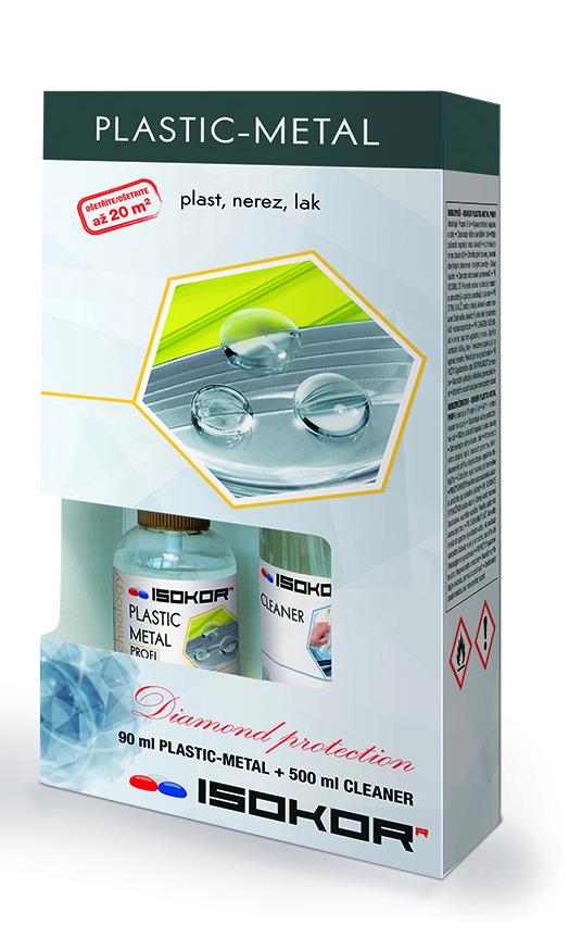 Nano impregnace kovových, nerezových a plastových povrchů IsoKor® Plastic - Metal Profi 90ml + 500ml Cleaner ZDARMA