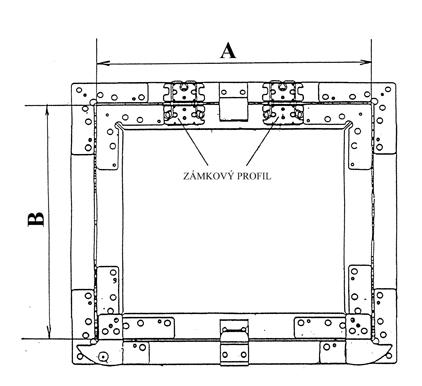 Protipožární revizní klapka do sádrokartonu - 400x400 - 15mm