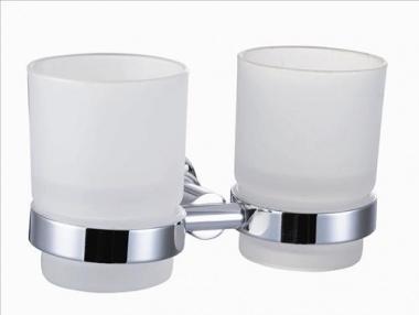 Dvojitý držák skleniček - mléčné sklo - SOF47NEW
